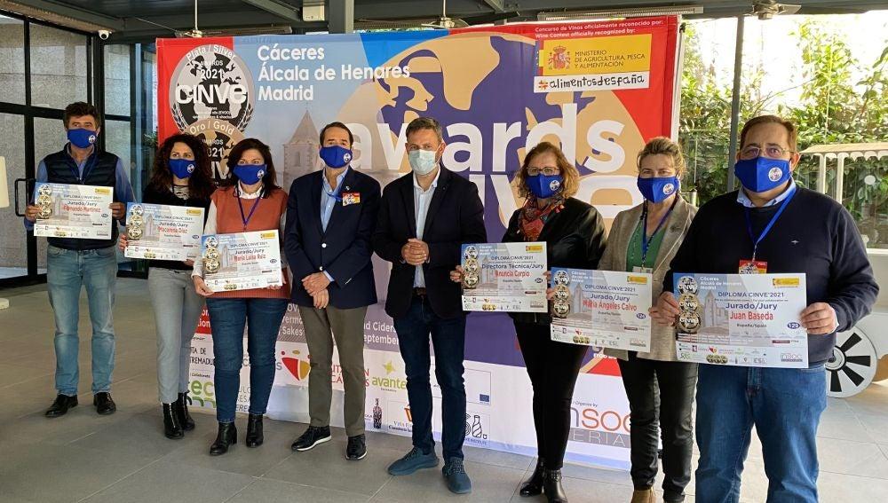 Clausurada la edición 2021 de CINVE AOVE, el Concurso de Aceites de Oliva Virgen Extra, celebrada en Cáceres