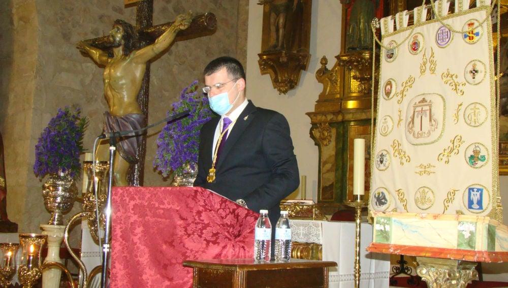 El Pregón de Pedro Caravaca revive el espíritu de una atípica Semana Santa quintanareña