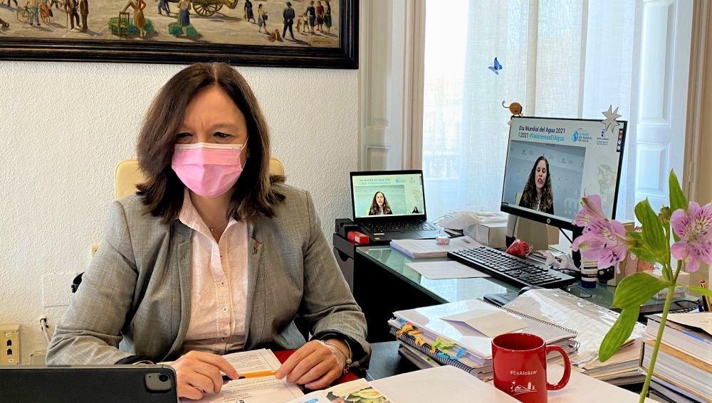 La alcaldesa de Alcázar de San Juan participa con la Junta en el Día Mundial del Agua