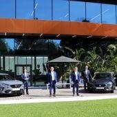 L'equip directiu de SEAT en la presentació dels resultats de la companyia.