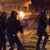 Una imatge dels aldarulls al centre de Barcelona durant el passat mes de febrer.