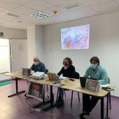 Instantes de la presentación del informe en Cádiz