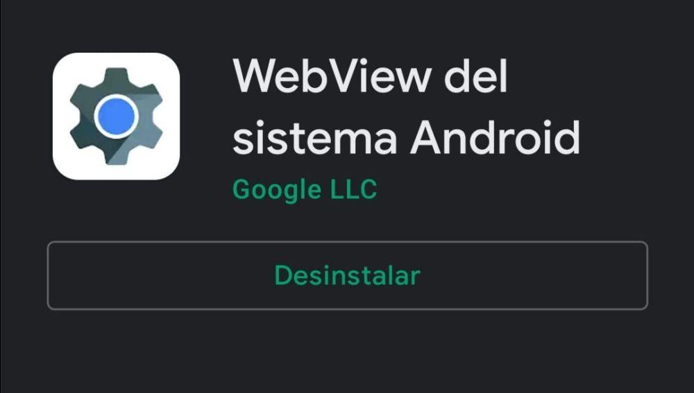 Web View del sistema Android