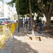 Una calle de San Fernando, en obras