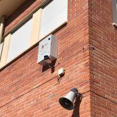 Cámara de vigilancia en una calle de Aspe.