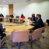 Feijóo aborda cos alcaldes da Baixa Limia os proxectos clave para a comarca