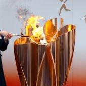 Con un año de retraso la antorcha olímpica inicia su recorrido por Japón