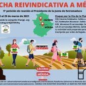 La Plataforma Salvemos la Montaña de Cáceres organiza una MARCHA REIVINDICATIVA A MÉRIDA para solicitar, de nuevo,  al presidente de la Junta de Extremadura que se reúna con ellos