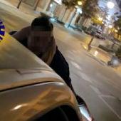 Imagen captada del video que grabaron los ocupantes del vehículo