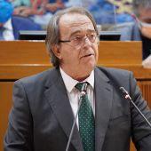 El consejero de Hacienda, durante su intervención en el plano
