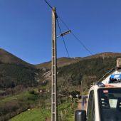 Primeras luces públicas solares  en Tineo