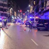 Control policial en la Avenida de Jijona