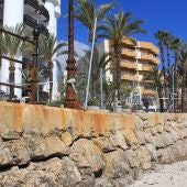 Costas autoriza al Ayuntamiento de Santa Eulària a reparar la zona dañada del Paseo Marítimo