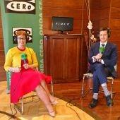 María Jesús Soto y Juanma Jiménez, responsable de Pimco para Iberia, en las oficinas de Andbank