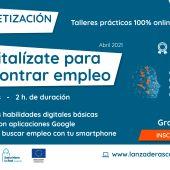 Abierta la inscripción de 'Alfabetización Digital' para personas en desempleo