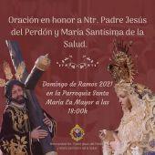 La Hermandad de la Salud celebrará un Domingo de Ramos adaptado a las necesidades de la COVID-19