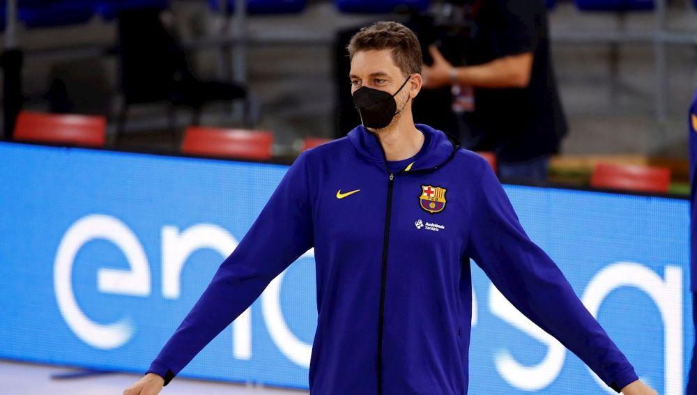 Pau Gasol presentado en Barcelona