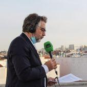Carlos Alsina en la azotea del Teatro La Latina, Madrid