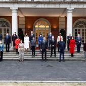 Las ministras y ministros del Gobierno de coalición