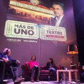 Raúl del Pozo, Antonio Casado, Carmen Morodo y Carlos Alsina en el teatro La Latina.