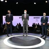 El Rei, Pedro Sánchez i Pere Navarro, en la cloenda del BNEW a l'octubre.