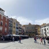 La Plaza Mayor de Cuenca, durante el Domingo de Ramos