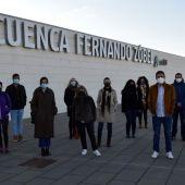 Algunos de los integrantes de la asociación Usuarios AVE Cuenca