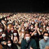 Primer concierto sin distancia social en tiempos de pandemia.