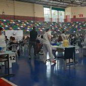 Vacunación en trabajadores de la enseñanza en Elche.