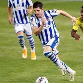 Zubeldia , jugador de la Real Sociedad