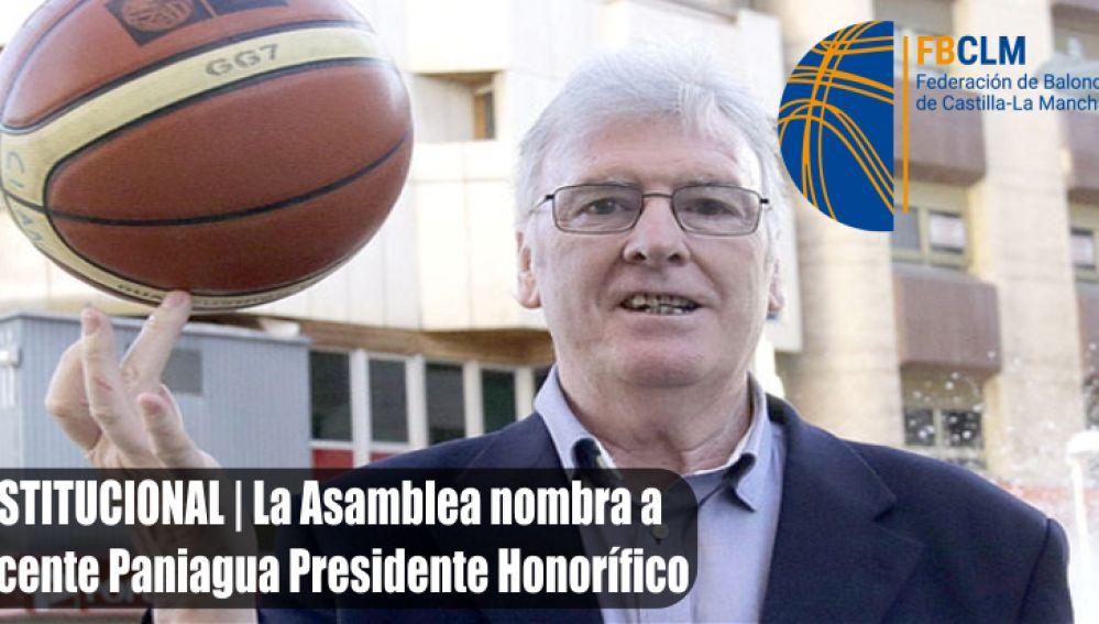 El alcazareño Vicente Paniagua nombrado presidente honorífico de la Federación de Baloncesto