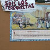 """Condena en Badajoz al """"acto vandálico"""" sufrido por el mural que ensalza la figura de Alfonso IX de León en Badajoz"""