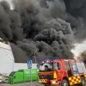 Incendio en la nave en Seseña