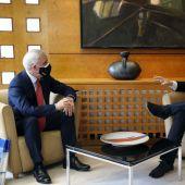 Reunión Adrián Barbón con Guillermo Ulacia
