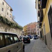 Subida al casco antiguo de Cuenca durante el pasado Domingo de Ramos