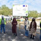 Zamora ha visitado las obras del Barrio del Pilar