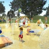 Xogos de auga na ribeira do Lérez