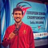 Raúl Martínez García, medalla de bronce en el Europeo 2021 absoluto de taekwondo.