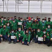 Delegación andaluza presentada en el campeonato de España disputado en La Nucia, Alicante