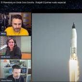 Momento de la transmisión de El Planetario