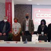 Muñoz junto a la nueva ejecutiva de CCOO en Ciudad Real