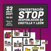 Madrid acogerá una concentración con la despoblación en nuestra comunidad