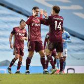 Diego Llorente con el Leeds