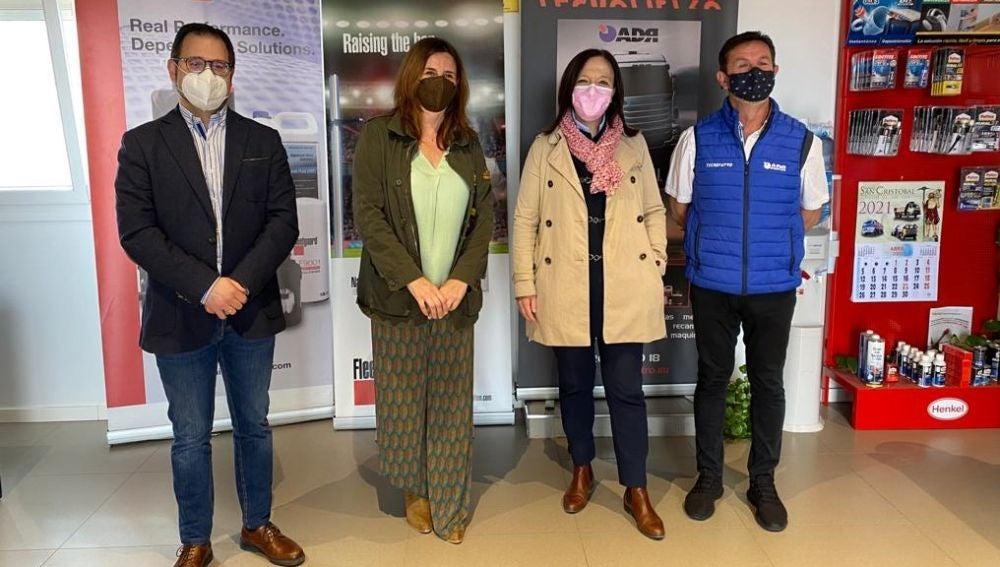 Rosa Melchor visita las nuevas instalaciones de Tecnofiltro