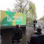 El alcalde, Jorge Azcón, ha presentado el proyecto, junto a la concejal Natalia Chueca y el director de ECODES, Víctor Viñuales