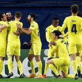 El Villarreal celebra su clasificación para semifinales de la Liga Europa