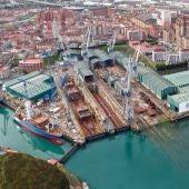 Instalaciones de Astilleros Armón en Gijón