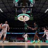 Darío Brizuela destacó en la victoria de anoche frente a Bilbao Basket