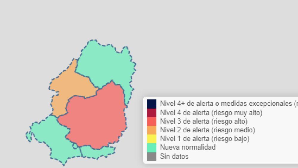 Mapa de Riesgo a fecha 14 de abril