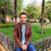 Daniel Gómez, en los Jardines del Prado de Ciudad Real
